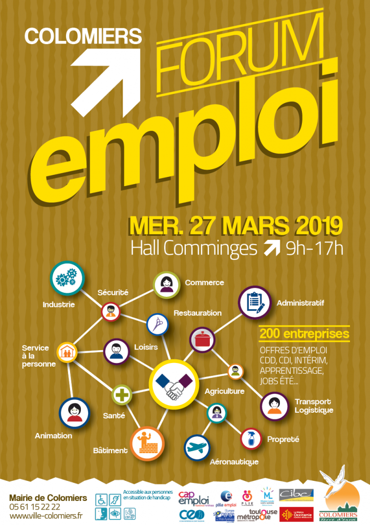 Affiche forum emploi Colomiers recto
