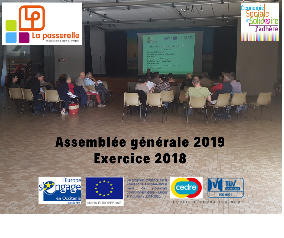 Assemblée Générale 2019 Exercice 2018
