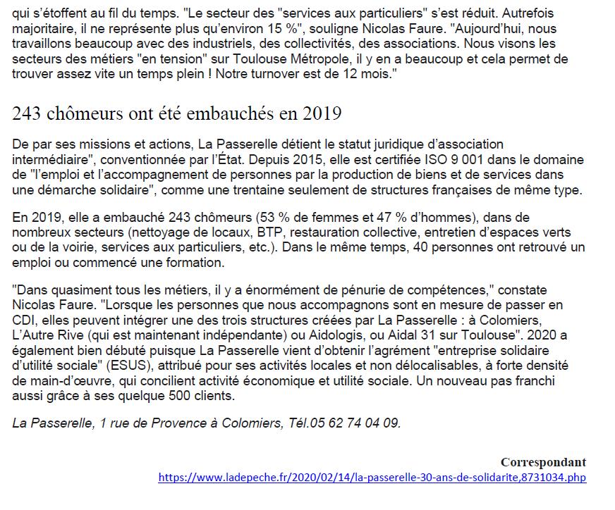 Page 2 Article La Dépêche 14 02 20