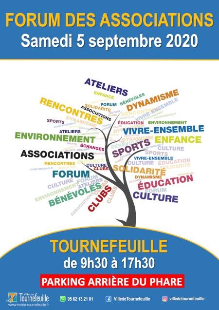 Affiche forum des associations Tournefeuille 2020