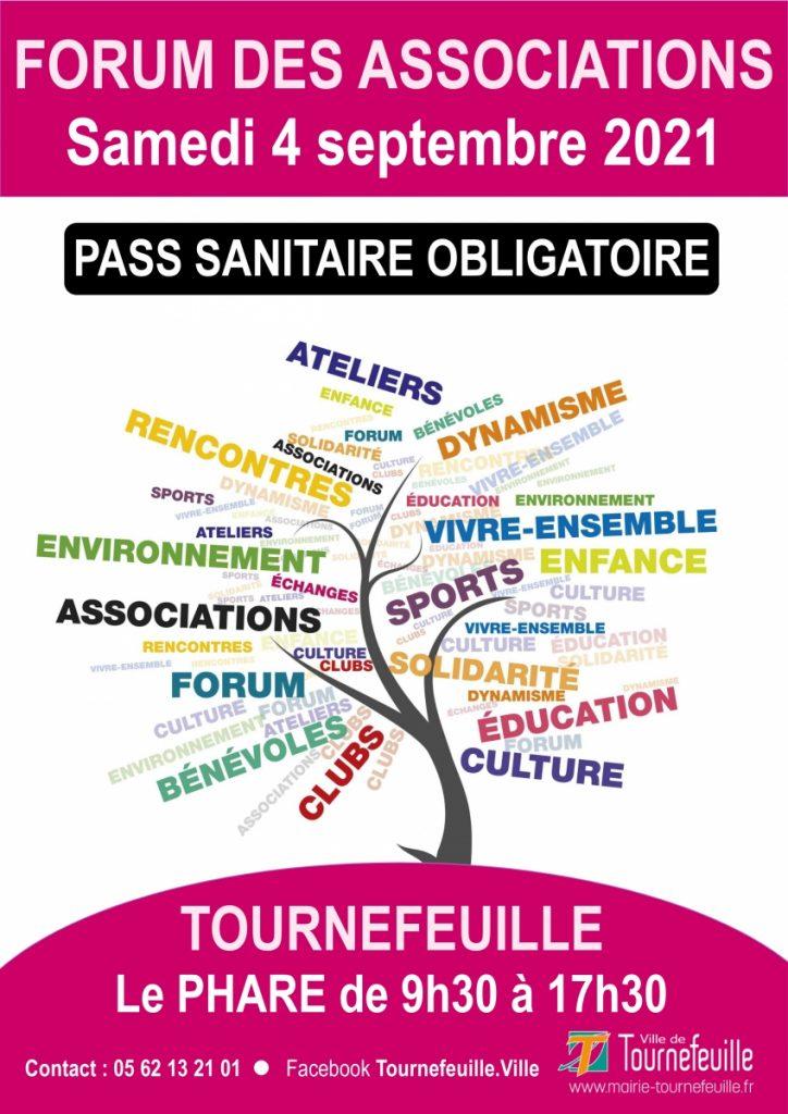 Affiche forum des associations Tournefeuille 2021